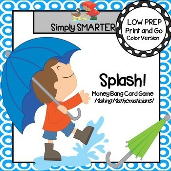 Splash!:  LOW PREP Money Card Game