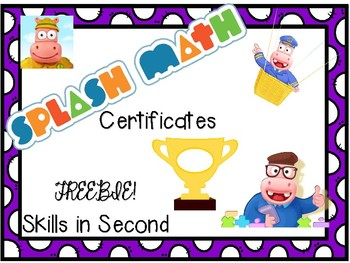 Splash Math Certificates