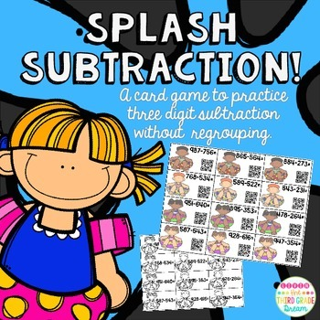 Splash Subtraction! Three Digit subtraction without regrouping
