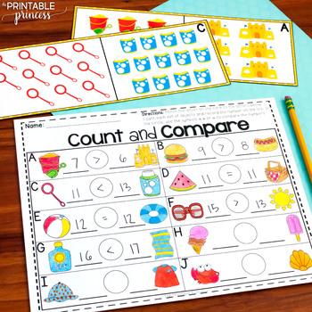 Summer Centers for Kindergarten {Literacy and Math Activities}