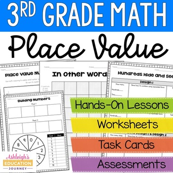 3rd grade math place value unit by ashleigh teachers pay teachers. Black Bedroom Furniture Sets. Home Design Ideas