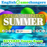Splash into Summer REVERSE Escape Room: Break IN to ANY Lesson or Content Area!