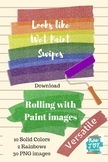 Splash of Color Swipes - Clipart PNG - Rolled Paint images