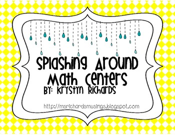 Splashing Around Spring Math Centers