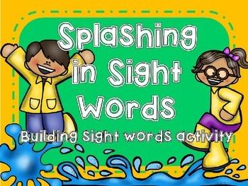 Splashing in Sight Word Building Activity