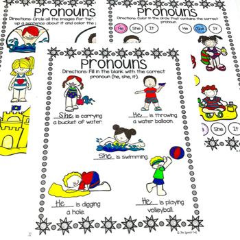 Summer No Prep Receptive and Expressive Language Worksheets and Homework