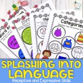 Summer No Prep Receptive and Expressive Language Homework
