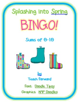 Splashing into Spring Math Bingo