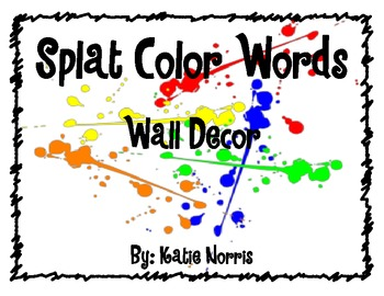 Splat Color Words-Wall Decor