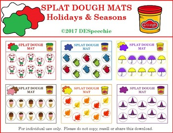 Splat Dough Mats Holidays & Seasons