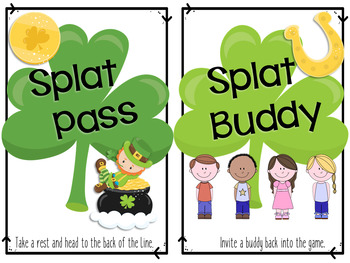 Splat Math Game - Near Doubles Addition Fluency - St. Patrick's