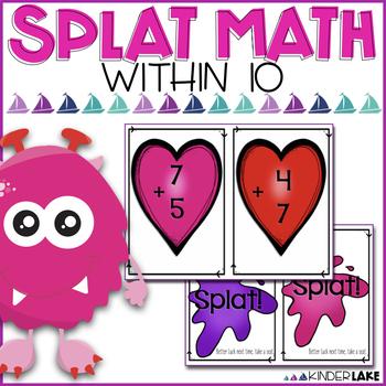 Splat Math Game - Valentine's Addition