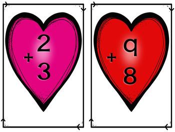 Splat Math Game - Near Doubles Addition - Valentine's