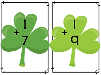 Splat Math - One More Fact Fluency - St. Patrick's