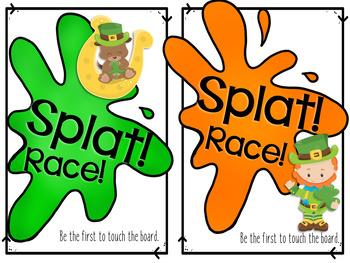 Splat Math: St. Patrick's Addition Facts