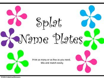 Splat Name Plates