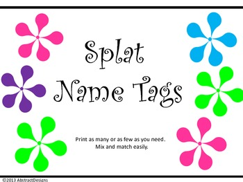 Splat Name Tags