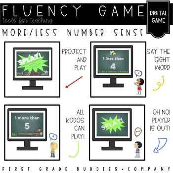 More and Less | Number Sense | Fluency Game | Project and Play | Digital