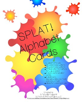 Splat! Rainbow Alphabet Cards