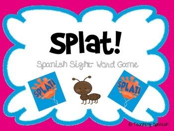 Splat! Spanish Sight Words