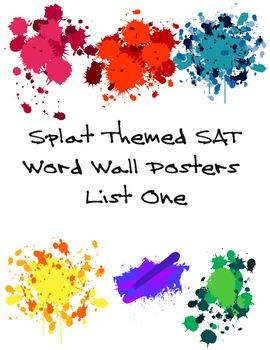 Splat Themed SAT Word Wall List One