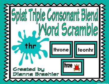 Splat Triple Consonant Blend Word Scramble