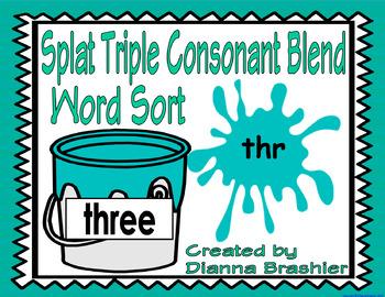 Splat Triple Consonant Blend Word Sort