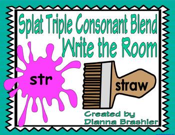 Splat Triple Consonant Blend Write the Room