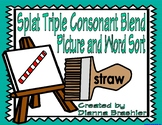 Splat Triple Consonant Blend Picture and Word Sort