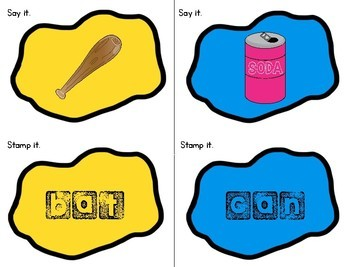 Splat and Stamp Play Doh CVC Words