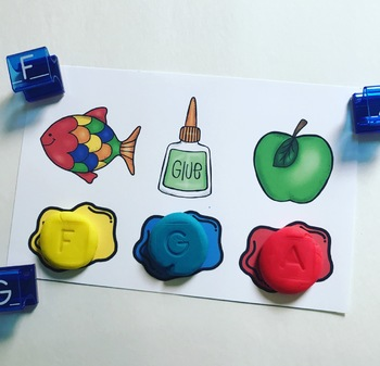 Splat and Stamp Play Doh: Letters and Beginning Sounds