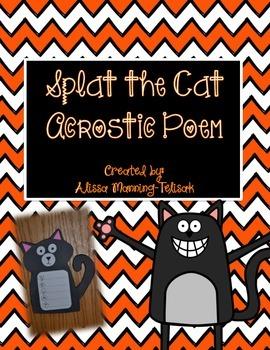Splat the Cat Acrostic Poem Craft
