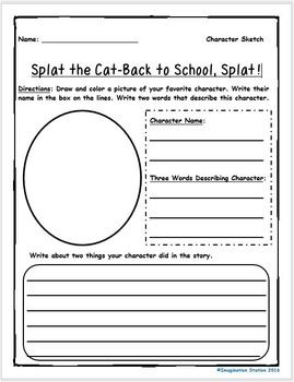 Splat the Cat-Back to School, Splat! Intermediate Activity Packet