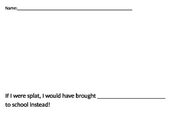 Splat the Cat Back to School Splat writing