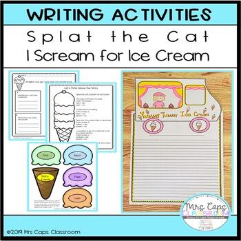 Splat the Cat I Scream for Ice Cream Writing Craftivity 1st