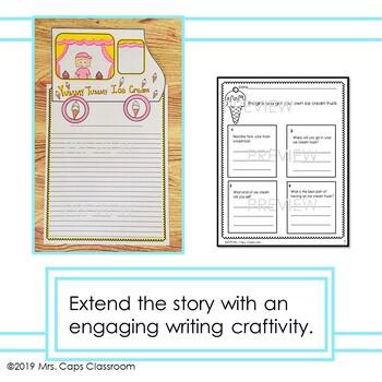 Splat the Cat I Scream for Ice Cream Writing Craftivity 1st & 2nd Grade