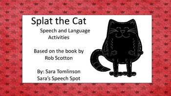 Splat the Cat Language and Articulation activities