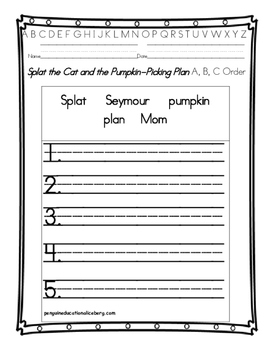 Splat the Cat Pumpkin-Picking Plan