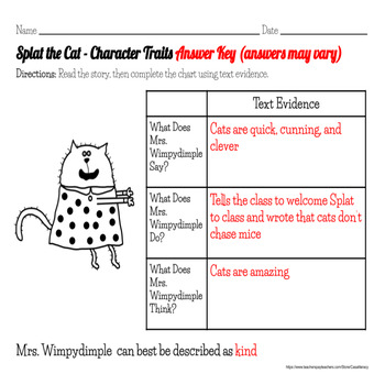 Back to School - Splat the Cat Reading Activity Packet & Assessment