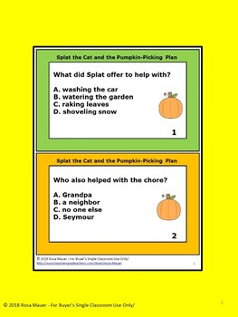 Splat the Cat and the Pumpkin-Picking Plan Book Companion