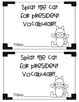 Splat the Cat for President Literacy Companion Pack