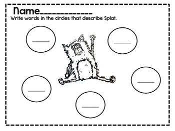 Splat the Cat literacy activities