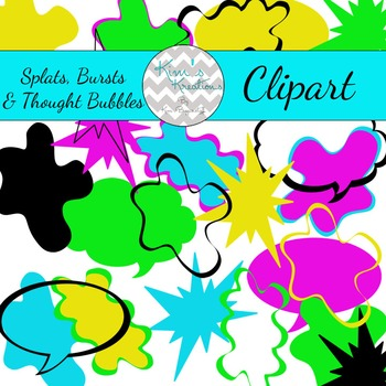 Splats, Bursts, and Thought Bubble Clipart