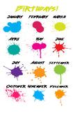 Splatter Birthday Poster