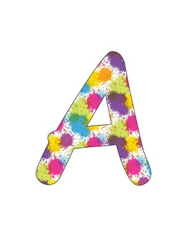 Splatter Bulletin Board Letter Set