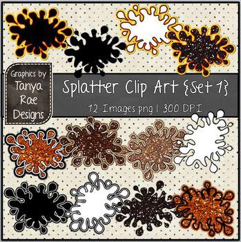 Splatter Clip Art {Set 1}