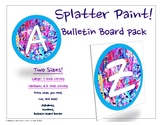 Letters and Numbers for Bulletin Board in Splatter Paint S