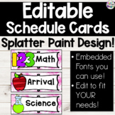 Splatter Paint Daily Visual Schedule Cards