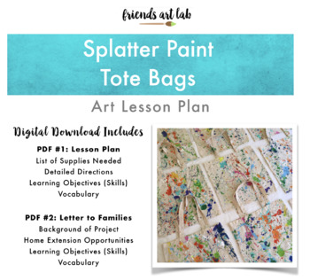 Splatter Paint Tote Bags (Perfect as a Tote or for Gift Giving!)