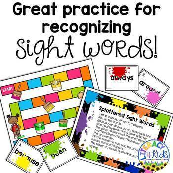 Splattered Sight Words Bundle for Grades 1 and 2